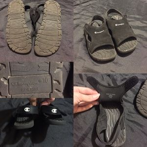 Toddler girl/ boy champion sandals size 10